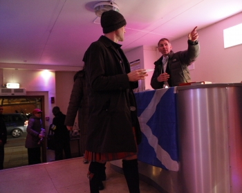 Scottish country dancing at the Camden Club St Andrews Day ceilidh