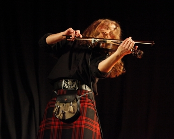 Musician at the Camden Club St Andrews Day ceilidh