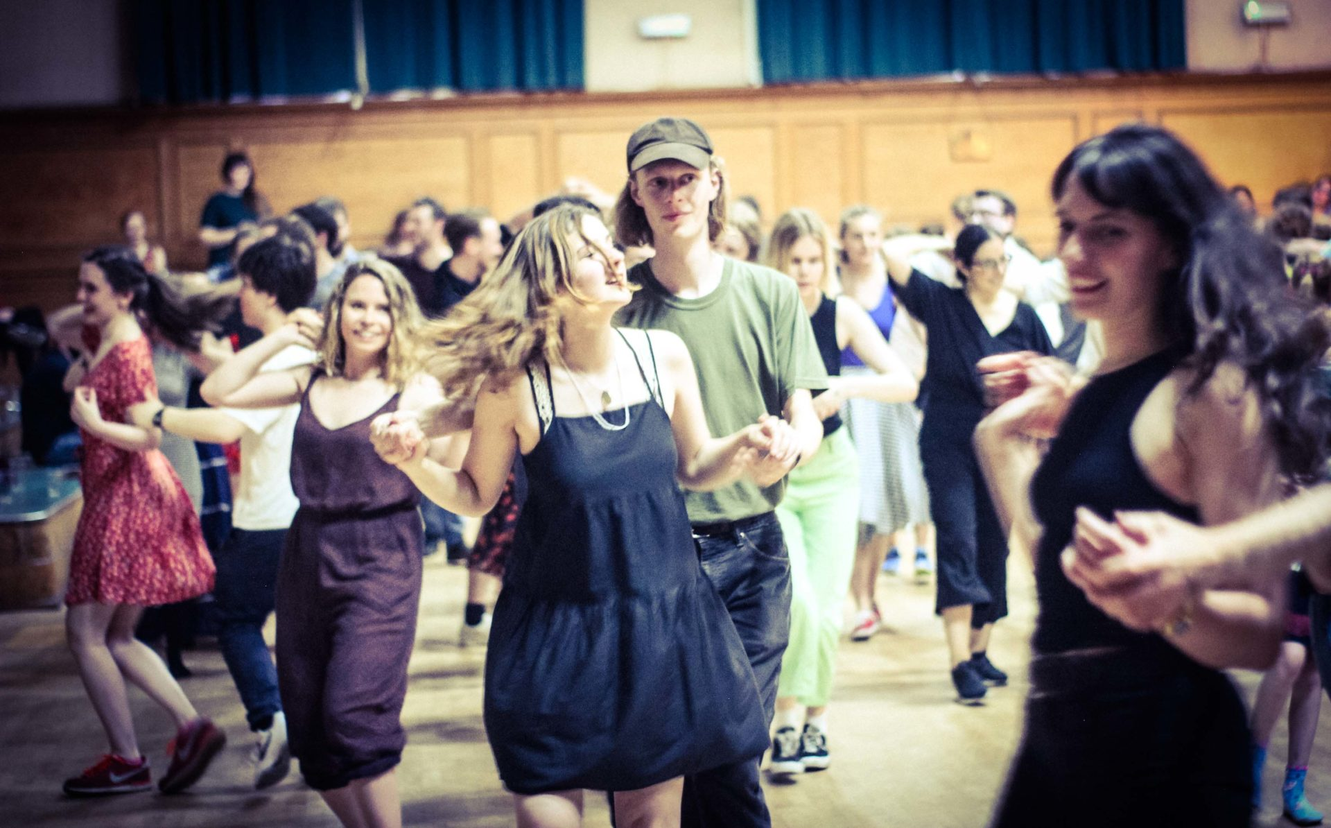 People having fun at the Ceilidh Club