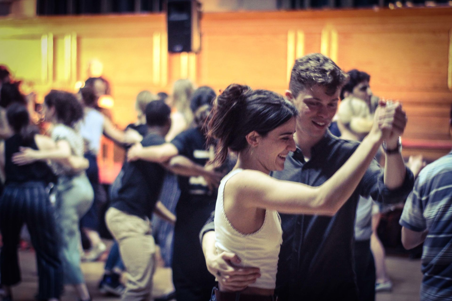 Two people dancing at the Ceilidh Club