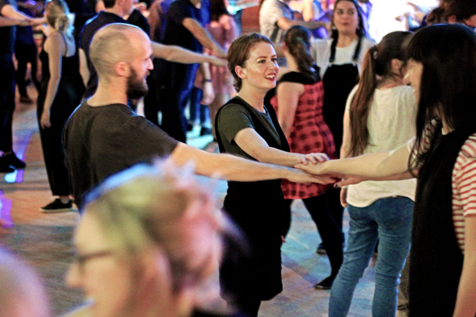 PEople dancing at the Ceilidh Club